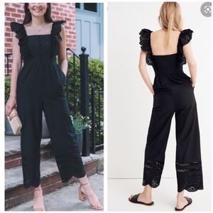 NEW Madewell Eyelet Frilled-Strap Jumpsuit